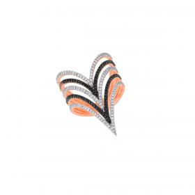 18K DIAMOND CUTIES RING (D:0.894)