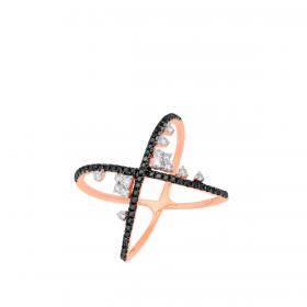 18K DIAMOND CUTIES RING (D:0.489)