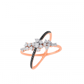 18K DIAMOND CUTIES RING (D:0.196)