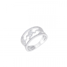 18K DIAMOND CUTIES RING (D:0.544)