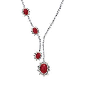RUBY LADY D  DIAMOND Necklace (D2.54)(R4.93)