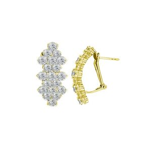 Princess 18k DIAMOND Earring (D2.23)