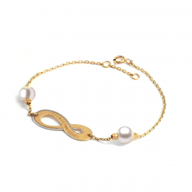 Infinity 18K Gold Bracelet