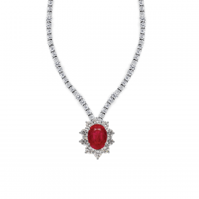 RUBY LADY D  DIAMOND Necklace (D1.95)-R(2.960)