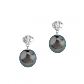 SOUTH SEA 18KT DIAMOND EARRING (D:0.05)