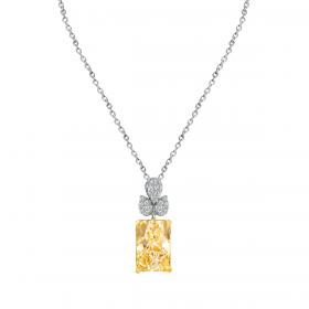 SUNSHINE 18K GOLD PENDANT CHAIN (D:0.11)