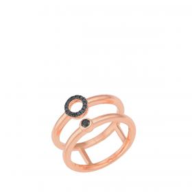18K DIAMOND CUTIES RING  (D:0.11)