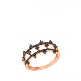 18K DIAMOND CUTIES RING  (D:0.41)
