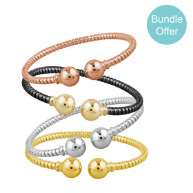 Tourbillon 18K GOLD Bangle Set TUBLBORI