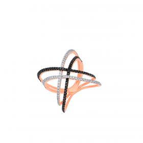 18K DIAMOND CUTIES RING (D:0.644)