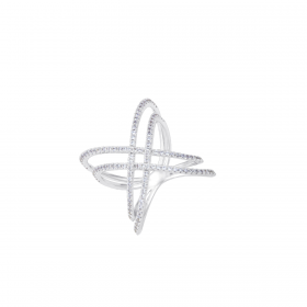 18K DIAMOND CUTIES RING (D:0.64)