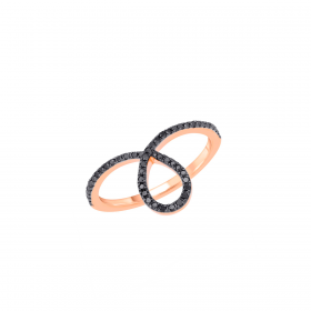 18K DIAMOND CUTIES RING (D:0.17)