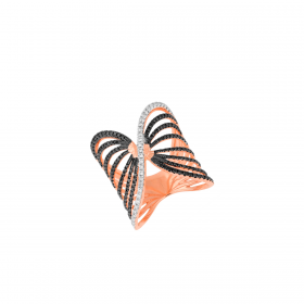 18K DIAMOND CUTIES RING (D:0.849)