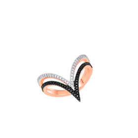 18K DIAMOND CUTIES RING (D:0.313)