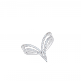 18K DIAMOND CUTIES RING (D:0.31)