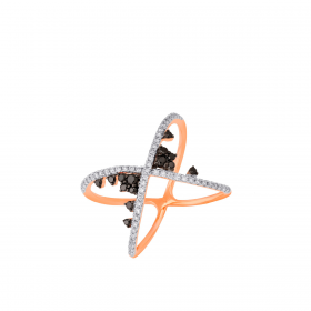 18K DIAMOND CUTIES RING (D:0.491)