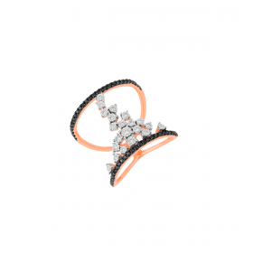 18K DIAMOND CUTIES RING (D:0.376)