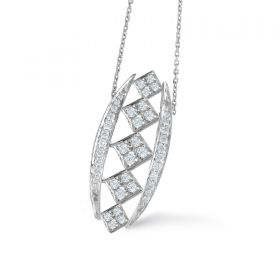 CHESS  DIAMOND PENDANT CHAIN (D0.30)