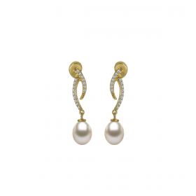 Perla 18k DIAMOND Earring (D0.26)