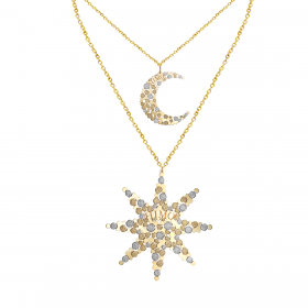 SKYLIGHT 18K GOLD NECKLACE