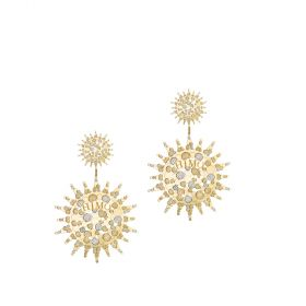 SKYLIGHT 18K GOLD EARRING