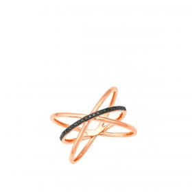 18K DIAMOND CUTIES RING  (D:0.12)