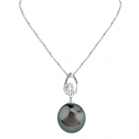 SOUTH SEA 18KT DIAMOND PENDANT CHAIN (D:0.1)