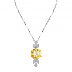 SUNSHINE 18K GOLD PENDANT CHAIN (D:0.23)