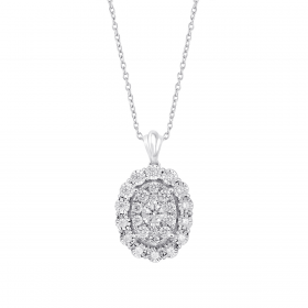18K DIAMOND TREASURES PENDANT  (D:0.42)