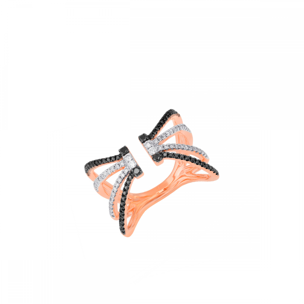 18K DIAMOND CUTIES RING (D:0.51)