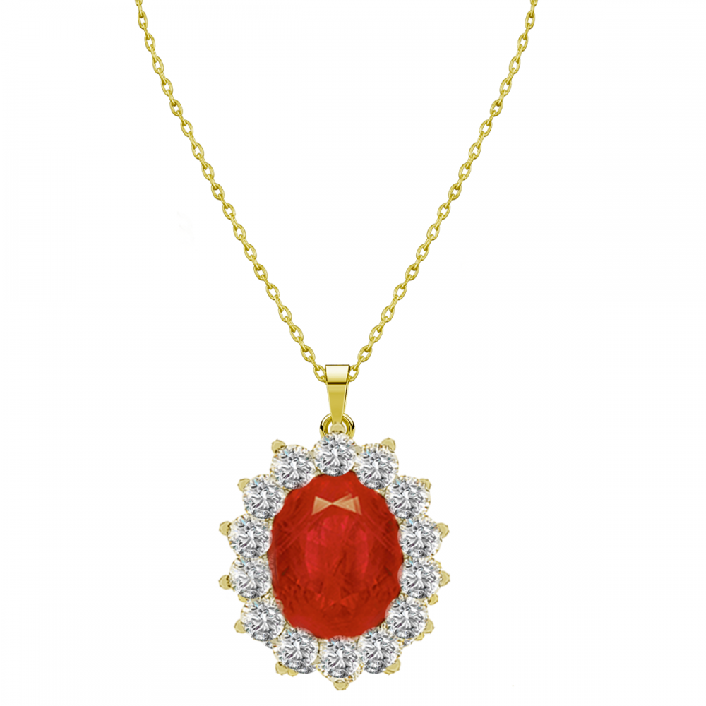 RUBY LADY D DIAMOND PENDANT CHAIN (D0.36)-R(2.390)
