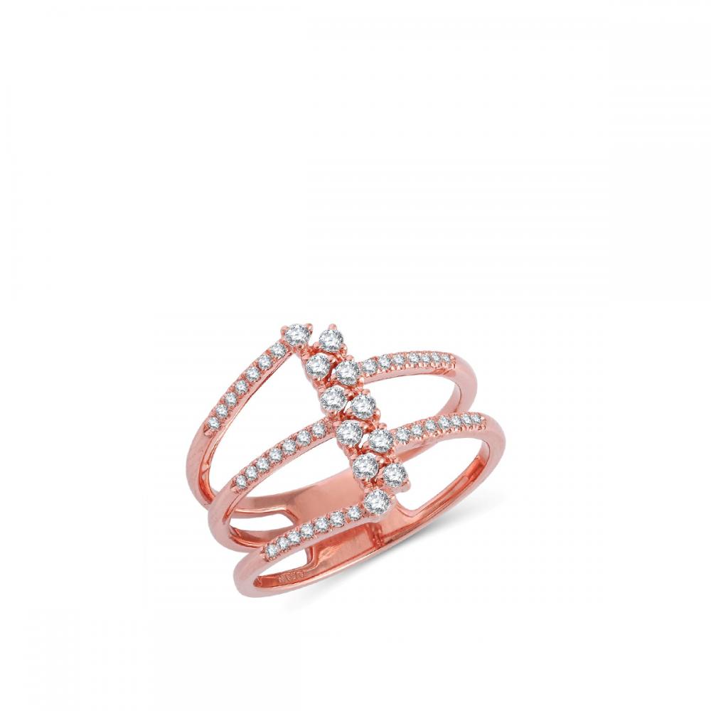 18K DIAMOND CUTIES RING  (D:0.27)