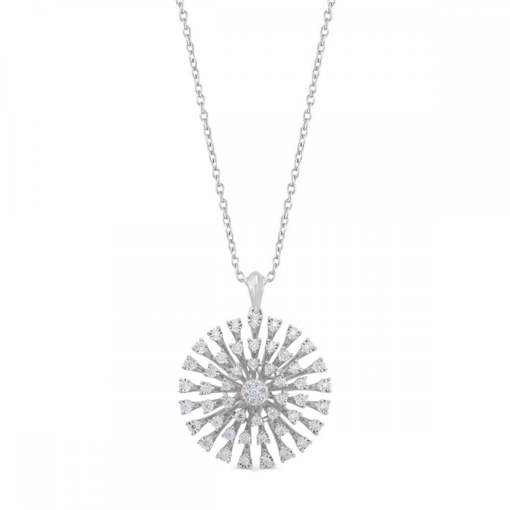 18K DIAMOND LADIES PENDANT  (D:0.63)