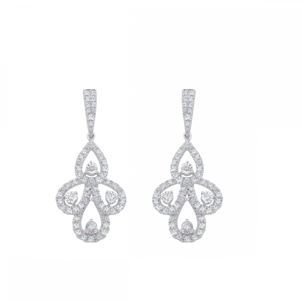 18K DIAMOND LADIES EARRING  (D:0.67)