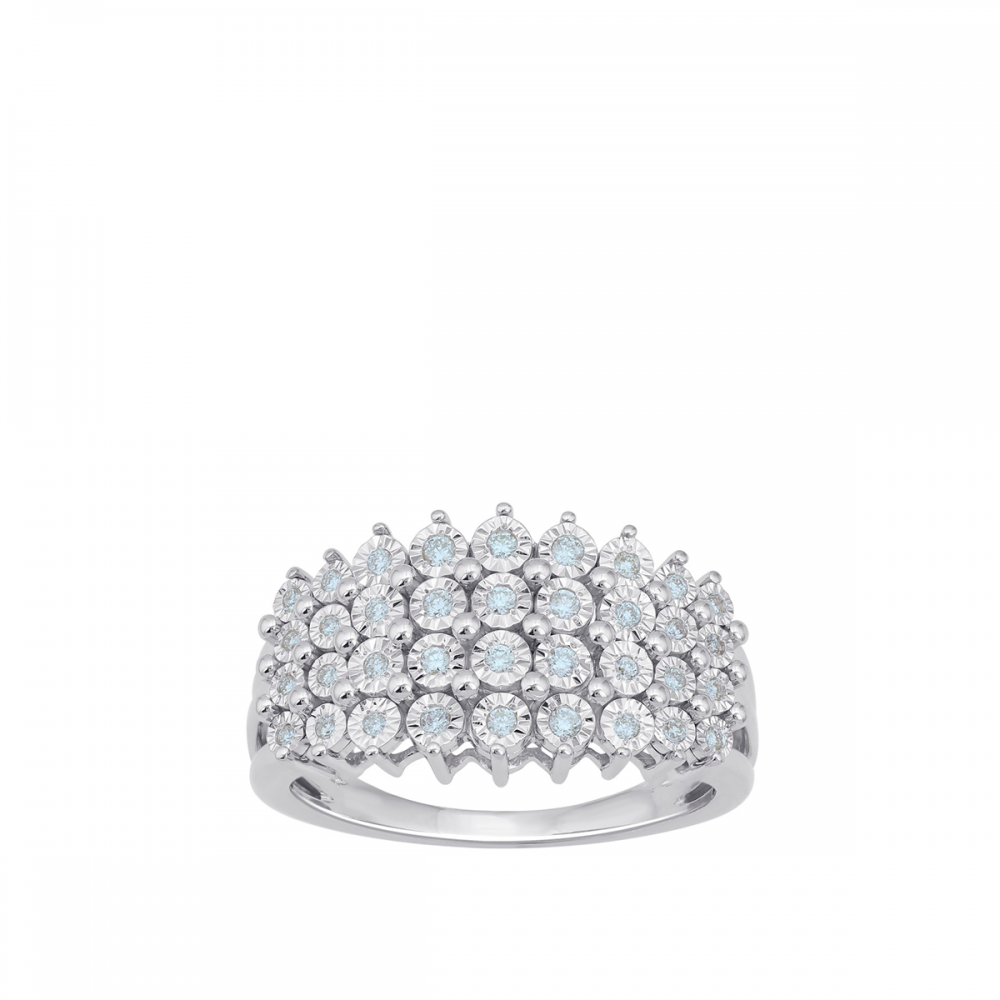 18K DIAMOND Princess RING  (D:0.16)