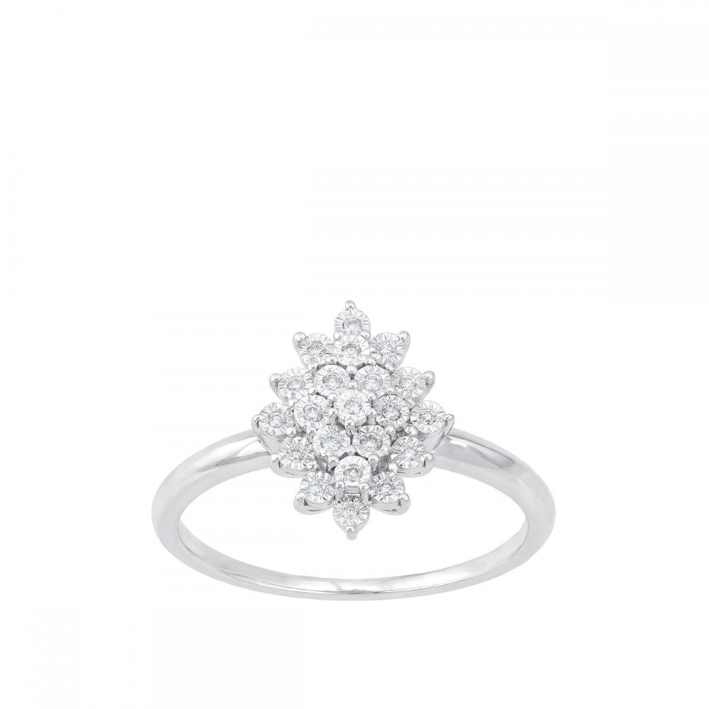 18K DIAMOND Princess RING  (D:0.07)